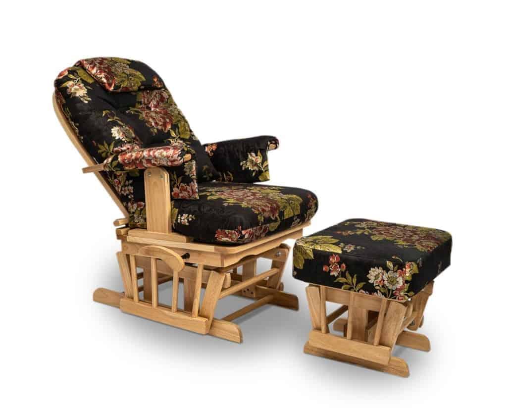 Relaxsesser mit Hocker, Glider Sessel ,Schwingsessel, Schaukelsessel mit Hocker, Series ONE